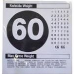 60mph & Weight Sign